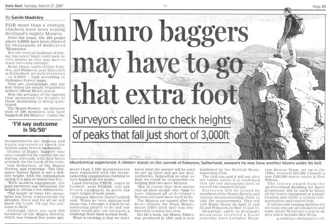 Daily Mail article 27 Mar 07