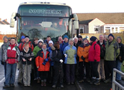 A group of 38 walkers about to leave Annbank on the River Ayr Way